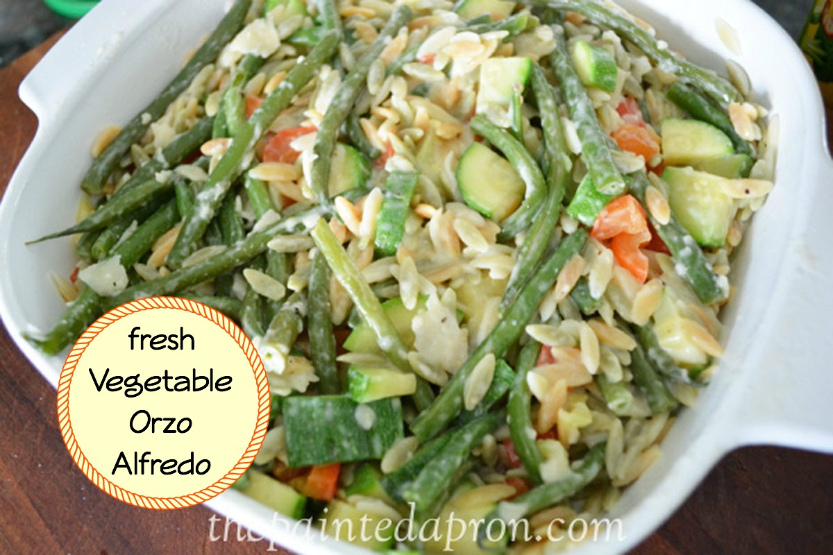 Take Out Tuesday Fresh Vegetable Orzo Alfredo The