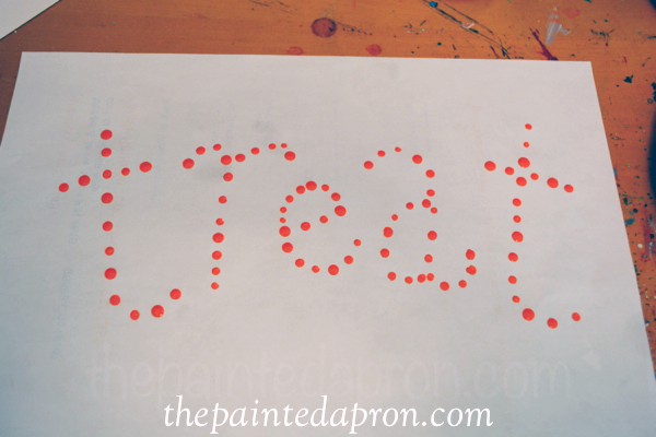 paint dot letters thepaintedapron.com
