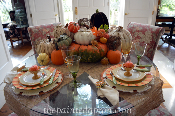 pumpkin patch table thepaintedapron.com