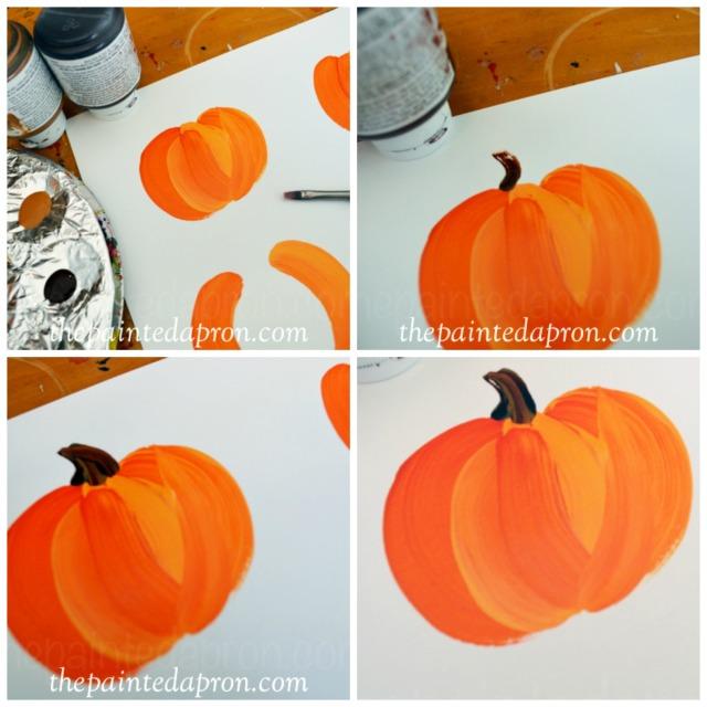 pumpkin stem collage