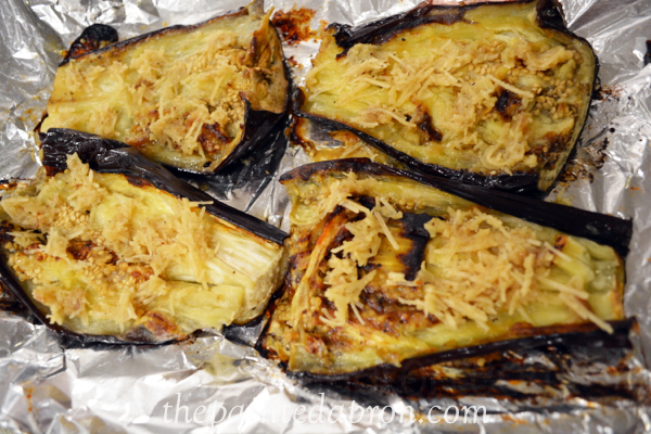 roasted garlic eggplant thepaintedapron.com