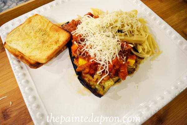 spaghetti eggplant thepaintedapron.com