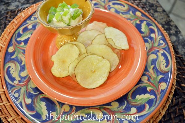 5 minute homemade potato chips thepaintedapron.com