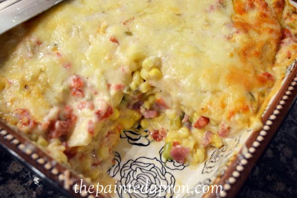 enchilada casserole thepaintedapron.com