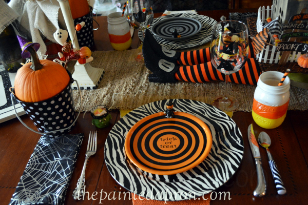 Halloween place setting 3 thepaintedapron.com