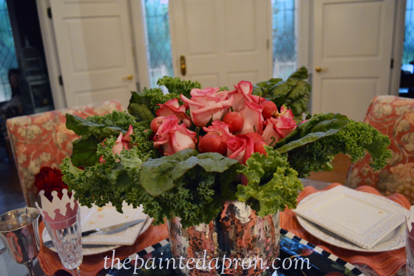 roses with kale and chard thepaintedapron.com