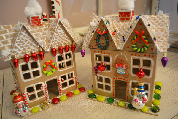 Christmas candy cottages thepaintedapro.com