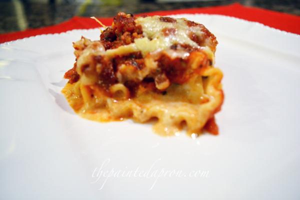 creamy lasagna rolls thepaintedapron.com 1
