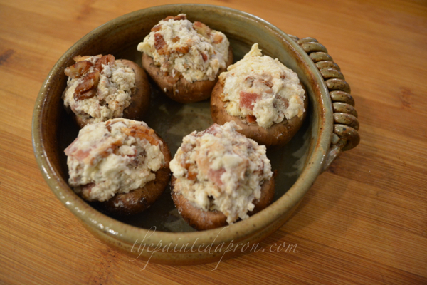 dip stuffed mushrooms 1 thepaintedapron.com