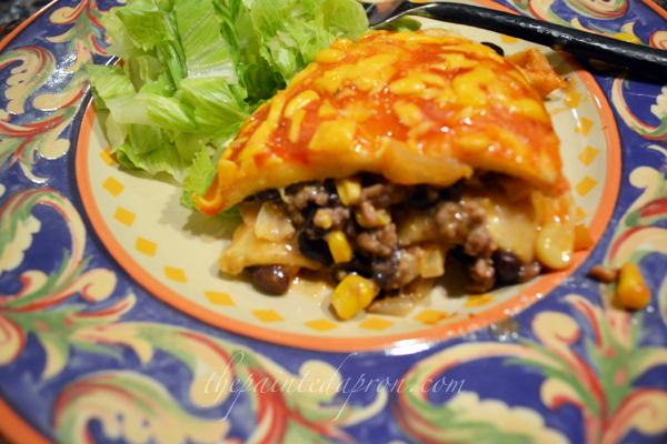 enchilada pie 5 thepaintedapron.com