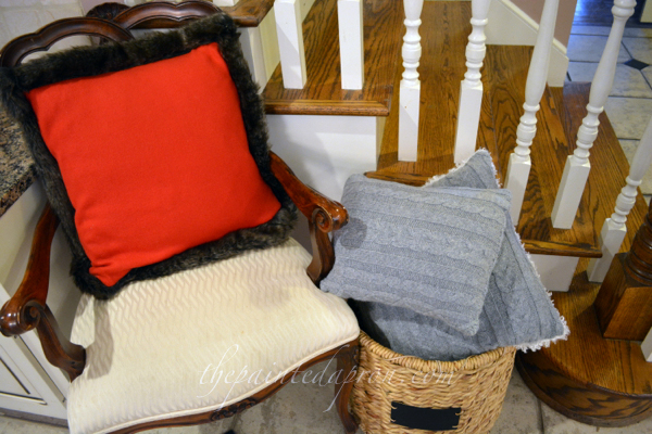 Pottery Barn inspired pillows thepaintedapron.com