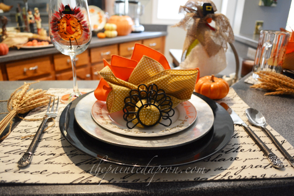 Thanksgiving place setting thepaintedapron.com