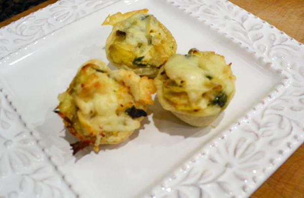 artichoke chicken tartlettes thepaintedapron.com