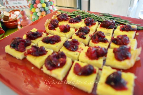 cranberry topped bleu cheese tart thepaintedapron.com
