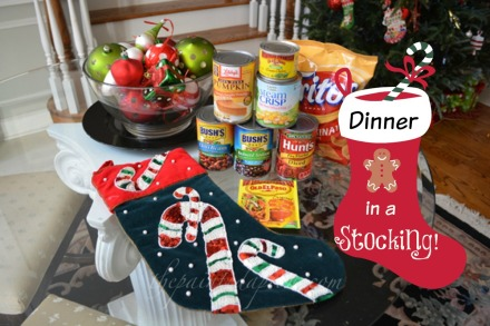 dinner in a stocking thepaintedapron.xom