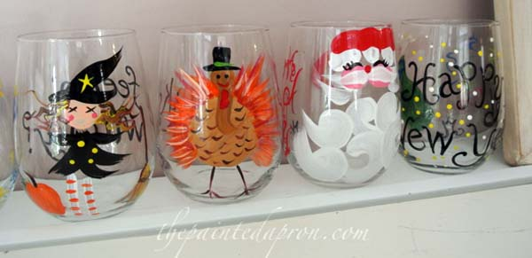 holiday glasses thepaintedapron.com
