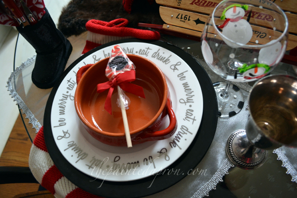 holiday place setting thepaintedapron.com