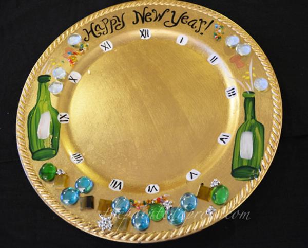 New Years plate thepaintedapron.com