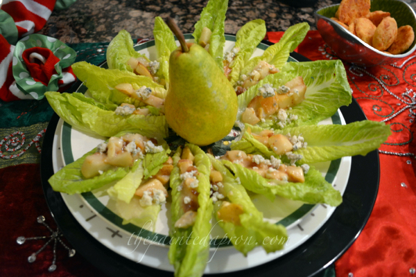 pear compote in romaine leaves thepaintedapron.com