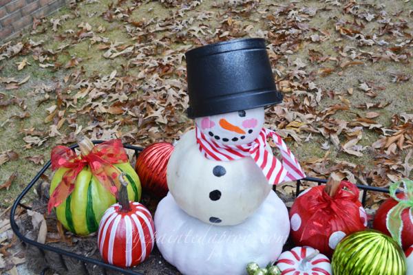 pumpkin snowman 3 thepaintedapron.com