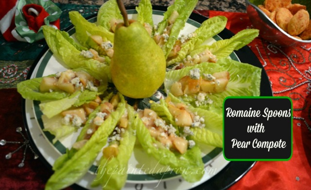 romaine with pear compote thepaintedapron.com