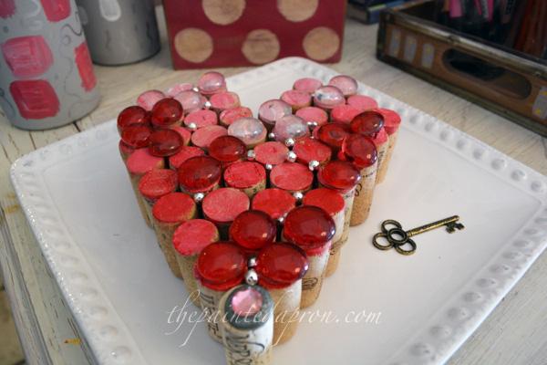 cork heart thepaintedapron.com