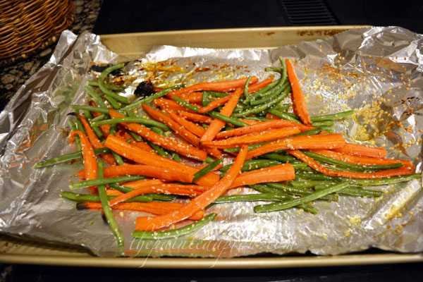 honey roasted carrots and beans thepaintedapron.com