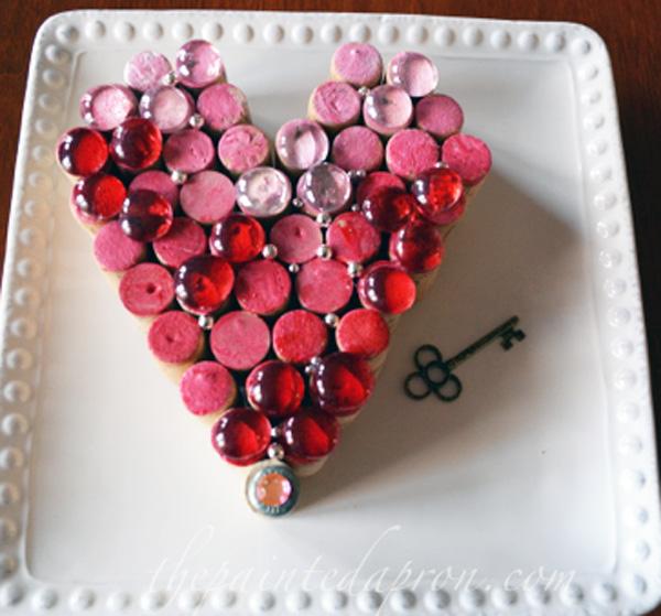 Painted cork heart 3 thepaintedapron.com
