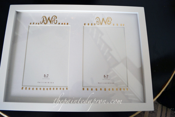 Creations, Monogrammed Frame Mat | The Painted Apron