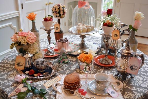 special occasion tea table thepaintedapron.com 1