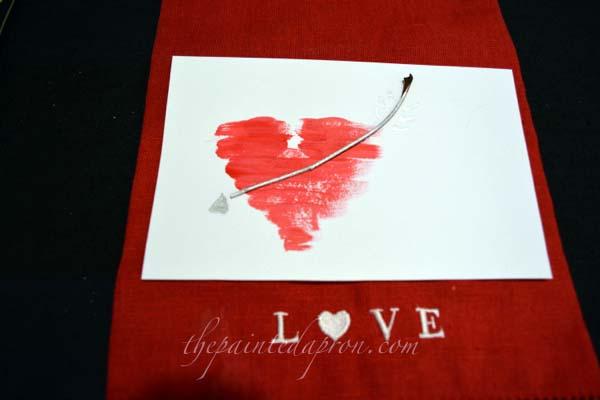 Valentine heart card thepaintedapron.com