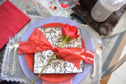 Valentine place setting