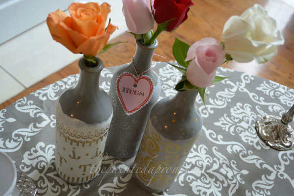 wine bottle vases thepaintedapron.com