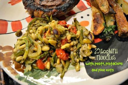 zucchini pesto pasta thepaintedapron.com
