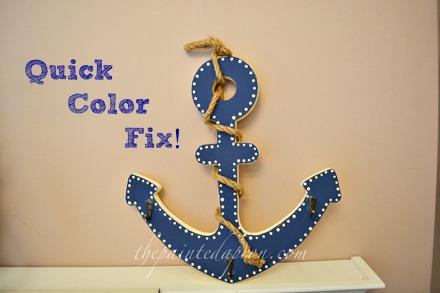 blue painted anchor thepaintedapron.com