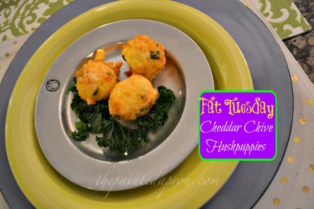 cheddar chive hushpuppies thepaintedapron.com