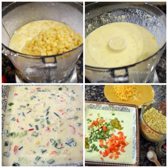 corn souffle collage