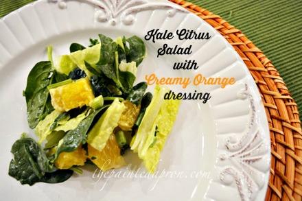 kale citrus salad thepaintedapron.com