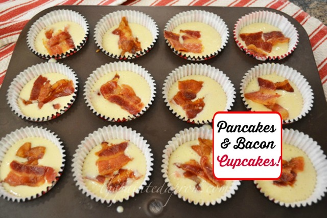 pancakes and bacon cupcakes 3 thepaintedapron.com