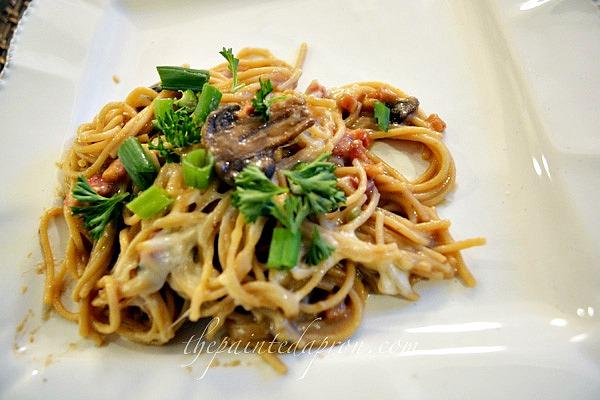 pasta with mushroom sauce thepaintedapron.com