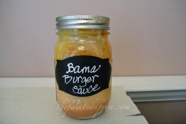 Bama Burger sauce 1 thepaintedapron.com
