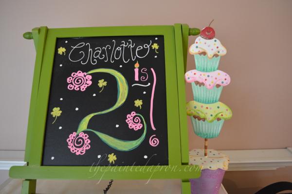 birthday chalkboard thepaintedapron.com