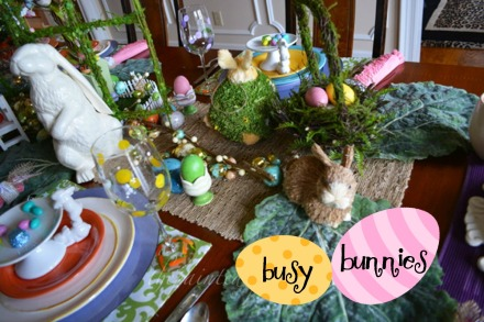 Busy Bunny table 5 thepaintedapron.com