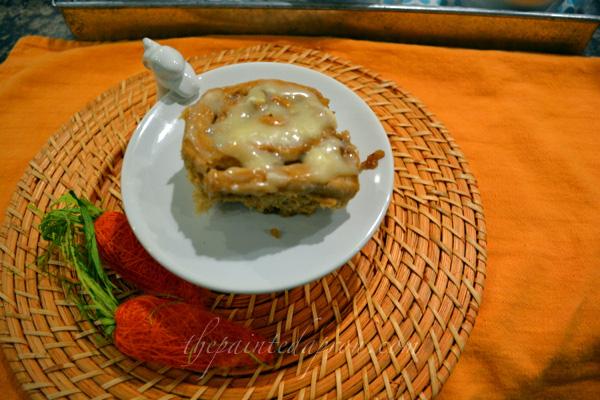 carrot cake sweet roll 2 thepaintedapron.com