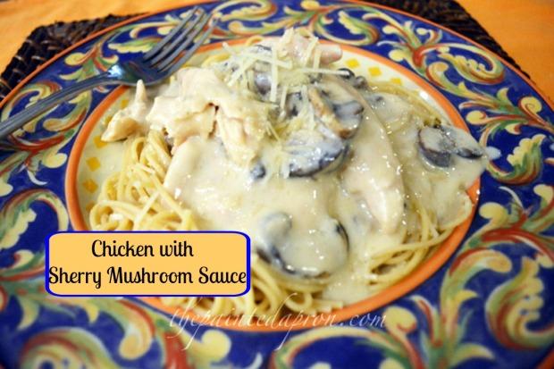 chicken with pasta and mushrooms thepaintedapron.com
