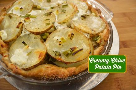 Creamy Chive Potato Pie thepaintedapron.com