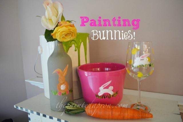 Painting bunnies thepaintedapron.com