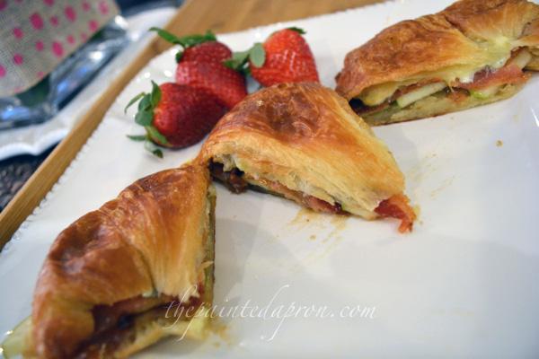 savory croissant sandwich thepaintedapron.com