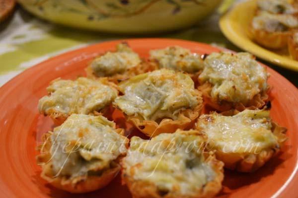 artichoke appetizer pies thepaintedapron.com