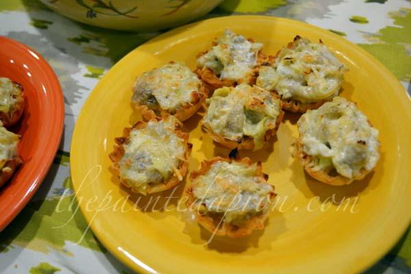 artichoke parmesan pie thepaintedapron.com